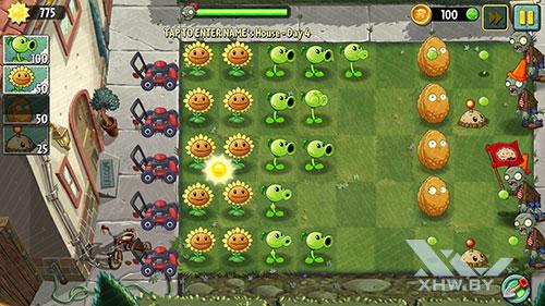 Игра Plants vs Zombies 2 на Huawei P8 Lite (2017)