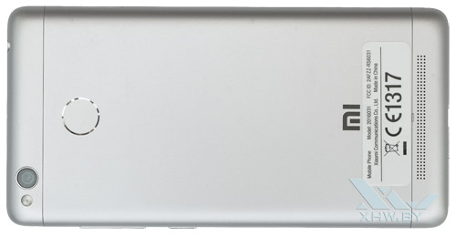Xiaomi Redmi 3S. Вид сзади