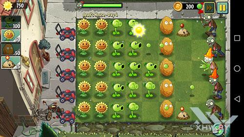 Игра Plants vs Zombies 2 на Huawei P10