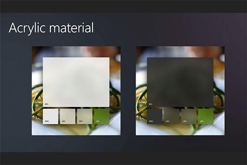 Acrylic в дизайне Microsoft Fluent Design System