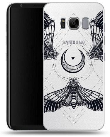 Полупрозрачный дизайнерский силиконовый чехол для Samsung Galaxy S8