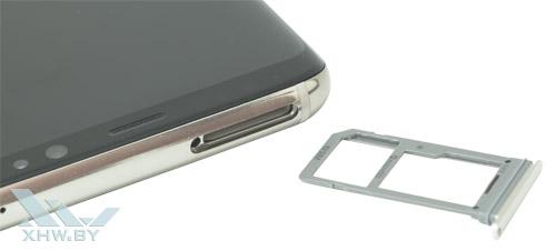 Отсек для карточек на Samsung Galaxy S8