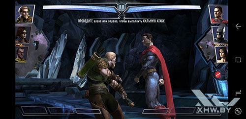 Игра Injustice: Gods Among Us на Samsung Galaxy S8
