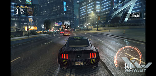 Игра Need For Speed: Most Wanted на Samsung Galaxy S8