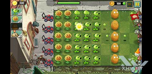 Игра Plants vs Zombies 2 на Samsung Galaxy S8