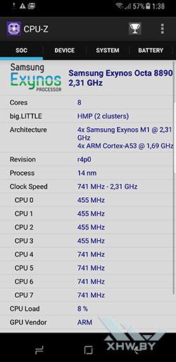 Процессор Samsung Galaxy S8