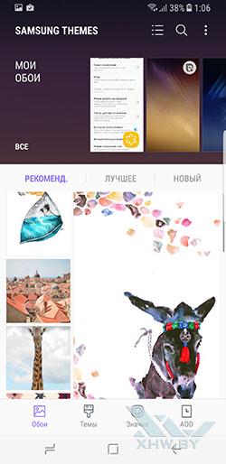 Samsung Themes на Samsung Galaxy S8. Рис. 1