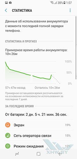 Параметры энергосбережения на Samsung Galaxy S8. Рис. 2