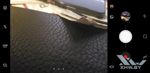 Интерфейс камеры на Samsung Galaxy S8. Рис. 1
