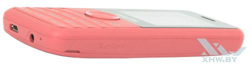 Philips Xenium E103 имеет чистые боковины