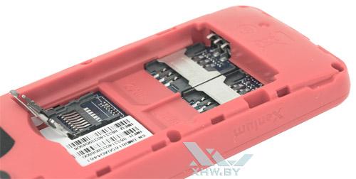 Установка SIM-карты в телефон Philips Xenium E103