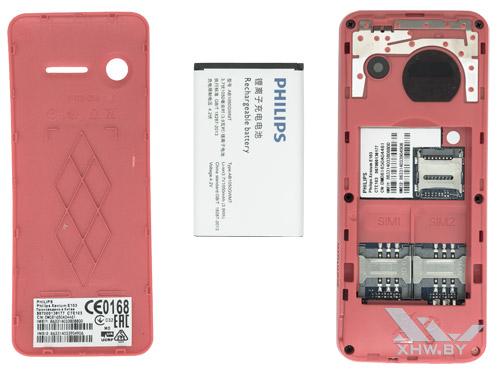 Разобранный телефон Philips Xenium E103