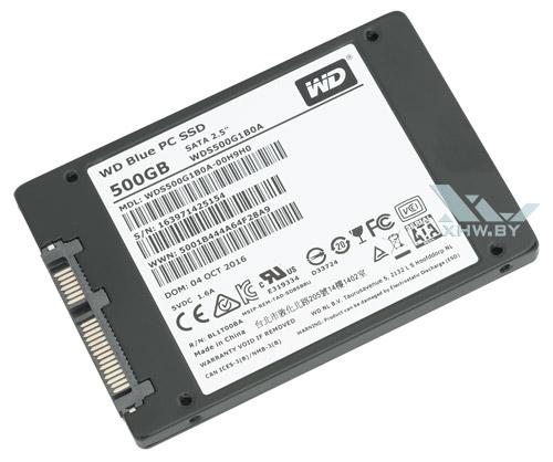 WD Blue SSD 500 Гбайт. Вид снизу