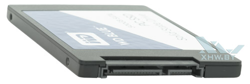 WD Blue SSD 500 Гбайт. Вид сзади