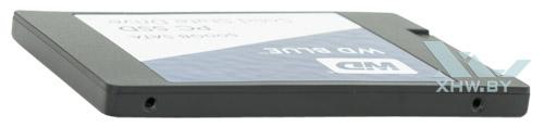 WD Blue SSD 500 Гбайт. Вид слева