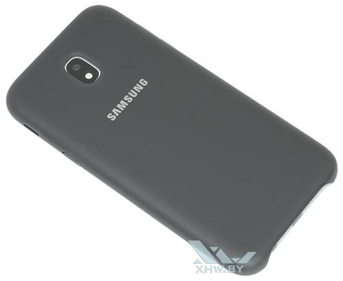 Вид с тыльной стороны смартфона Samsung Galaxy J5 (2017) в фирменном чехле Dual Layer Cover