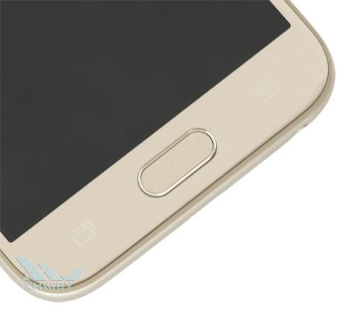 Кнопка Home у Samsung Galaxy J3 (2017) не имеет сканера отпечатков пальцев