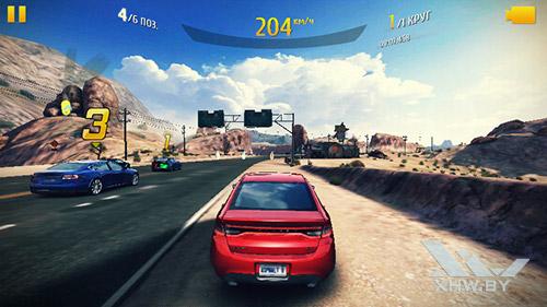 Игра Asphalt 8 на Huawei Y3 (2017)
