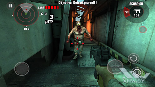 Игра Dead Trigger на Huawei Y3 (2017)