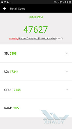 Samsung Galaxy J7 (2017) в Antutu. Рис. 1