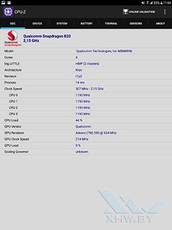 Процессор Samsung Galaxy Tab S3