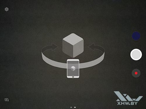 Режим виртуальной съемки камеры Samsung Galaxy Tab S3