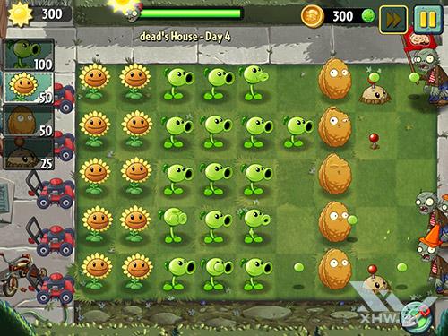 Игра Plants vs Zombies 2 на Samsung Galaxy Tab S3