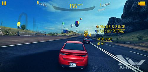 Игра Asphalt 8 на Samsung Galaxy S8+