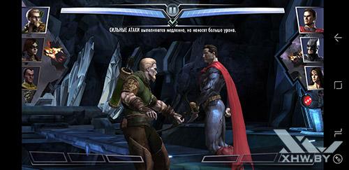 Игра Injustice: Gods Among Us на Samsung Galaxy S8+
