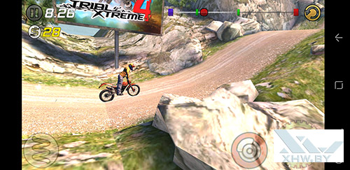 Игра Trial Xtreme 3 на Samsung Galaxy S8+