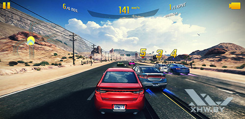 Игра Asphalt 8 на Samsung Galaxy Note 8