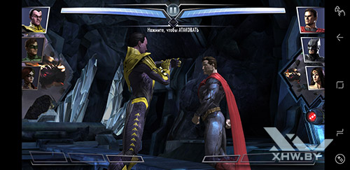 Игра Injustice на Samsung Galaxy Note 8
