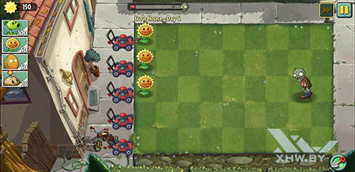 Игра Plants vs Zombies 2 на Samsung Galaxy Note 8