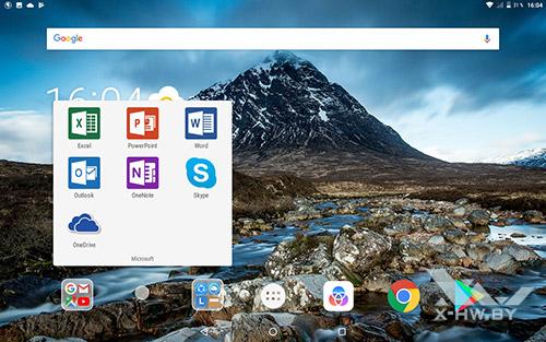 Приложения Microsoft на Lenovo Tab 4 10