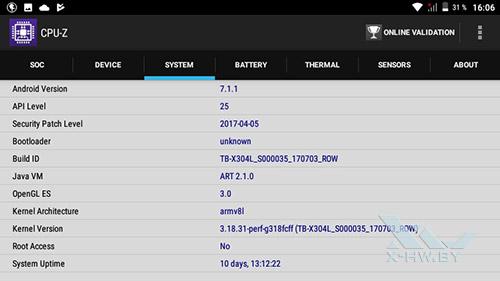 Система Lenovo Tab4 10