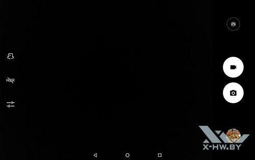 Интерфейс основной камеры Lenovo Tab 4 10