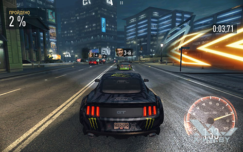 Игра Need For Speed: No Limits на Lenovo Tab4 10