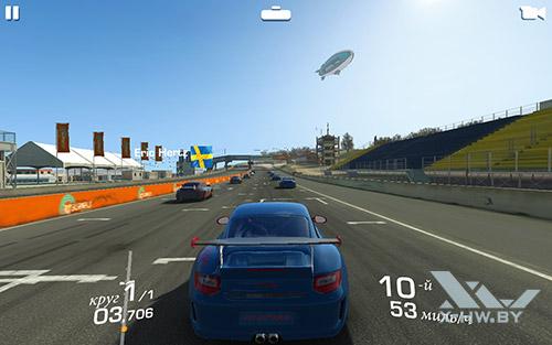 Игра Real Racing 3 на Lenovo Tab4 10