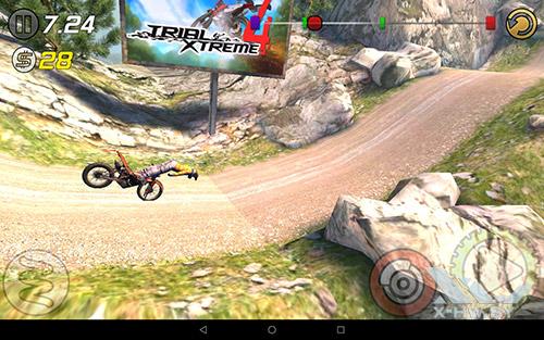 Игра Trial Xtreme 3 на Lenovo Tab4 10