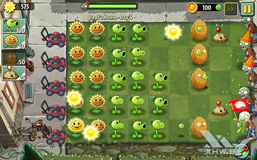 Игра Plants vs Zombies 2 на Samsung Galaxy Tab A 8.0 (2017)