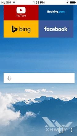Яндекс.Браузер на iPhone. Рис 1