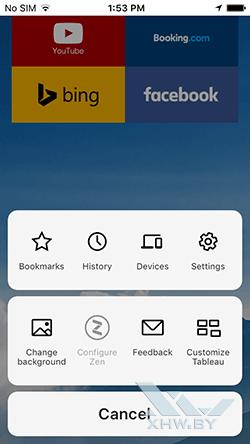 Яндекс.Браузер на iPhone. Рис 2