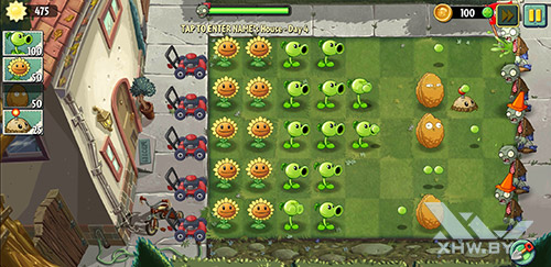 Игра Plants vs Zombies 2 на Samsung Galaxy A8 (2018)