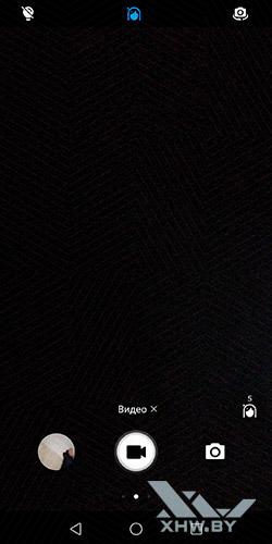 Интерфейс фронтальной видеокамеры Huawei Mate 10 lite