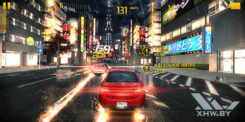 Игра Asphalt 8 на Huawei Mate 10 lite
