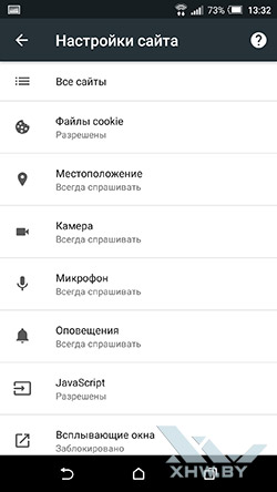 Браузер Google Chrome на Android. Рис 6