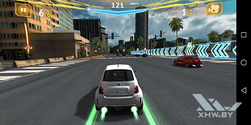 Игра Asphalt 7 на Huawei P smart