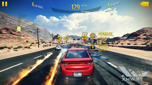 Игра Asphalt 8 на Samsung Galaxy J7 Neo