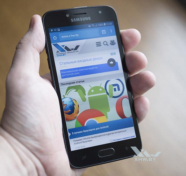 Samsung Galaxy J2 (2018) имеет ностальгический вид