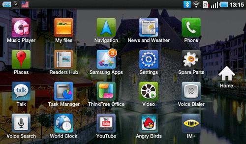 Приложения Samsung Galaxy Tab. Рис. 2